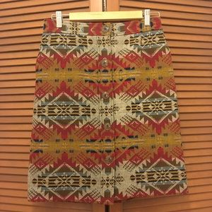Pendleton Aztec wool pencil pencil skirt 6